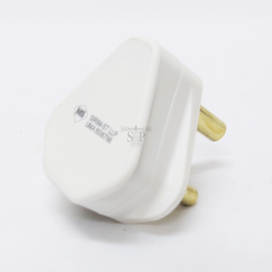 Ums Pt150r 15amp Unfused Resilient Plug Top White