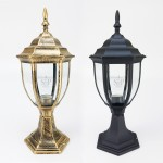 2299 E27 Classic Outdoor Stand Gate Lamp For Pole / Pillar