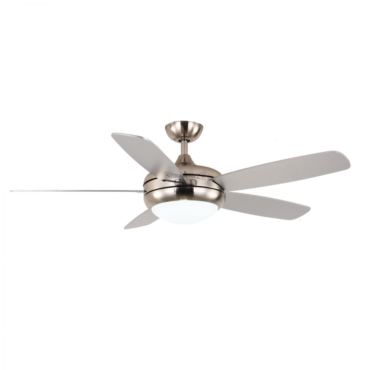 GOLD LUX 3307B 52-inch Decorative Ceiling Fan c/w LED Light [5 Blade] (Silver)