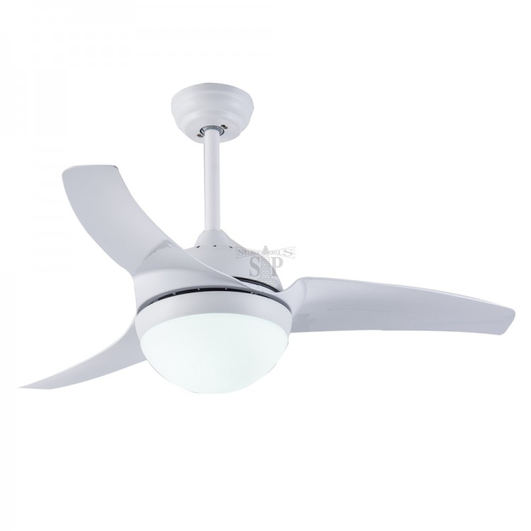 GOLD LUX 3309C 42-inch Decorative Ceiling Fan c/w LED Light [3 Blade] (White)