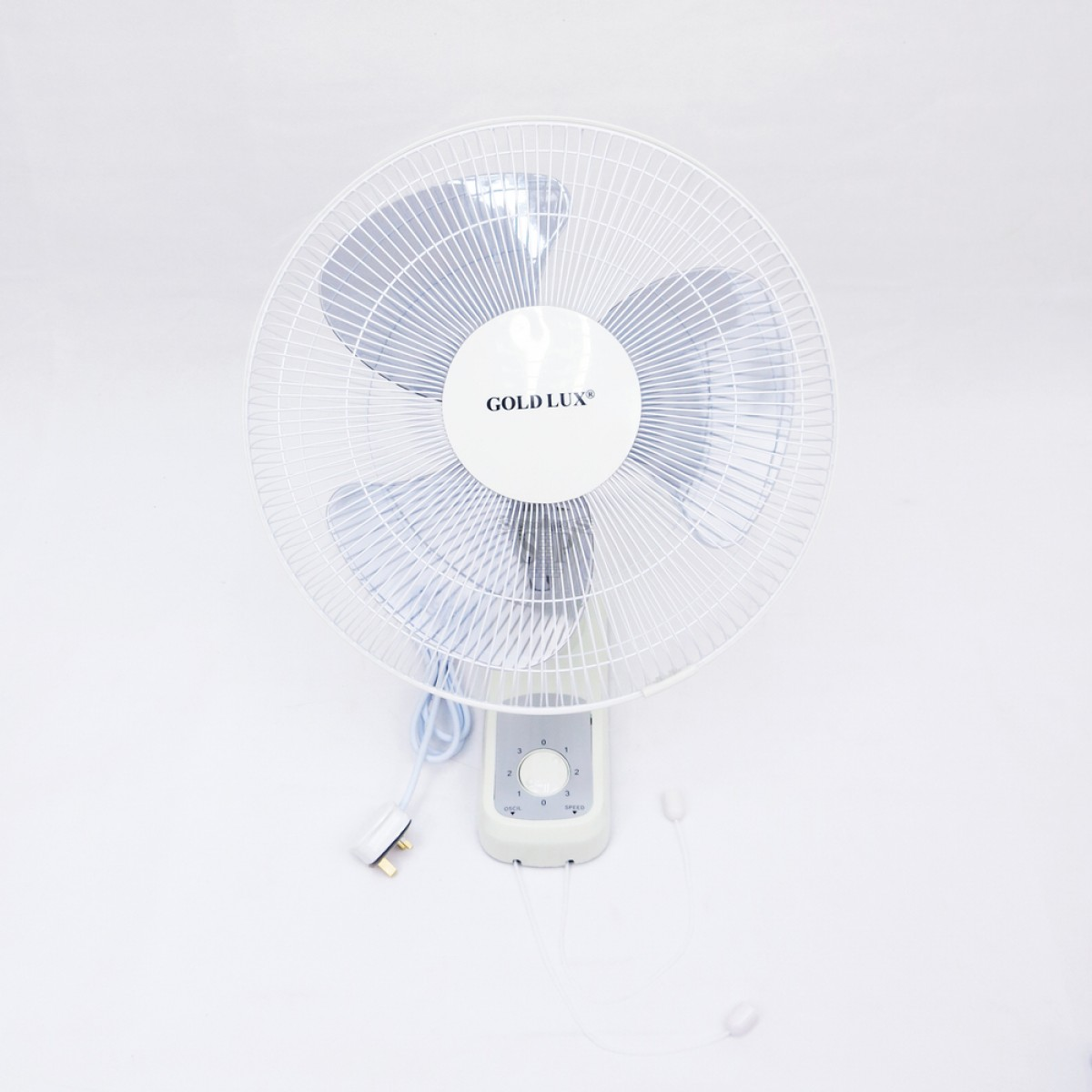 GOLD LUX GLW1808 16-inch PVC Wall Fan 3 Speeds [SIRIM Approval] (White)