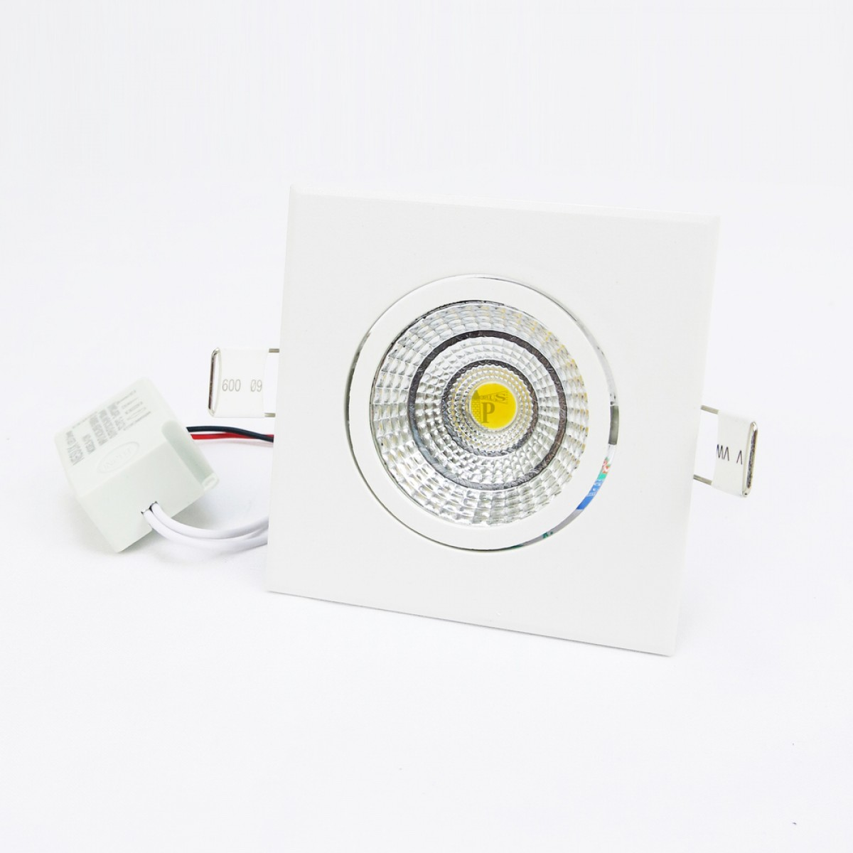 NESUX N3026 5W Directional COB LED Spot Light / LED Down Light Recessed Type Square