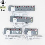 Designer 13A 2 Gang To 5 Gang 2 Meters Power Extension Trailing Socket c/w Surge Protector [SIRIM Approval] (Grey)