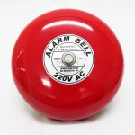 8-inch 240V Weatherproof Electrical Alarm Bell (Red)