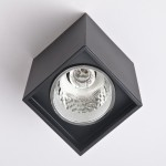 BTG 3.5-inch E27 Flush Mount Surface Down Light Square (Black)