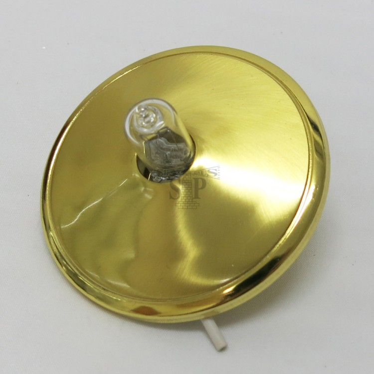 G50 Cabinet Light (Gold) [Recessed Type] c/w 240V 1.5W G4 SMD 3014 LED Rocket Bulb [Silicon]