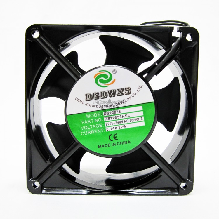 4.5-inch Cooling Fan for Video Player/CPU/Gaming (Black)