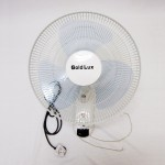 GOLD LUX 16-inch Wall Fan 3 Speeds (White & Grey Blade)