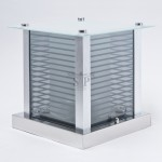 9911 12-inch Modern E27 LED Outdoor Gate Lamp Square For Pole / Pillar