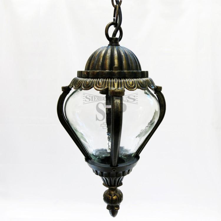 8027 E27 Classic Outdoor Pendant Ceiling Gate Lamp (Antique Bronze)