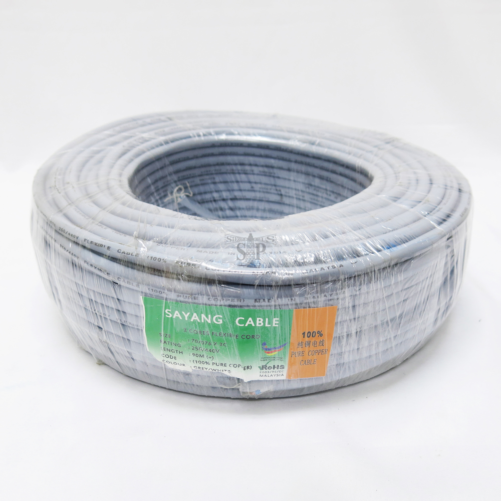 Sayang 70 0076 X 3 Core Pvc Insulated Pvc Sheathed Copper